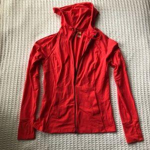 Lucy Bright Coral Zip Up Active Jacket Medium